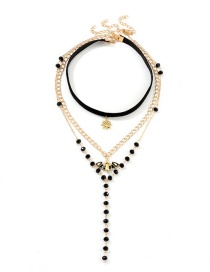 Fashion Gold Multi-layer Halloween Necklace