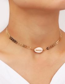 Fashion Golden Shell Starry Love Necklace
