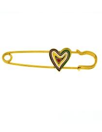 Fashion Gold Drip Oil Love Brooch