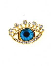 Fashion Gold Eye Jewel Brooch
