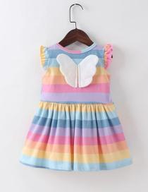 Fashion Skirt Rainbow Striped Butterfly Tank Dress