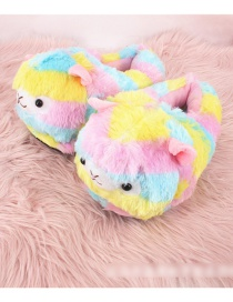 Fashion Color Colorful Grass Mud Horse Bag With Plush Cotton Slippers
