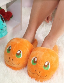 Fashion Orange Small Fire Dragon Cartoon Animal Plush Slippers