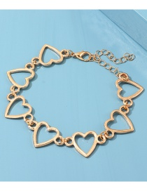 Fashion Gold Alloy Heart Ring Bracelet