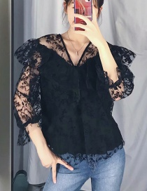 Camisa De Jersey Con Estampado De Flores 绢 Net