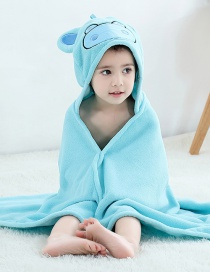 Fashion Hippo Bathrobe (coral Fleece) Coral Velvet Cartoon Animal Children's Bath Towel
