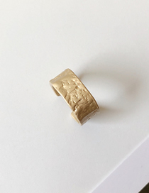 Fashion Large Gold Pleated Tin Foil Opening Ring