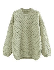 Fashion Green Pullover Knit Top