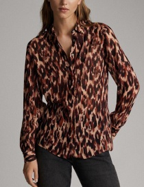 Fashion Red Leopard Print Shirt