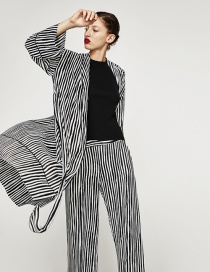 Fashion Stripe Striped Coat