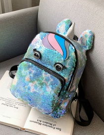 Fashion Blue Star Unicorn Sequins Parent-child Backpack