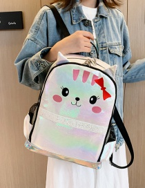 Fashion White Kitty Backpack