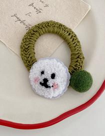 Fashion Hair Ring - Puppy Embroidered Cartoon Plush Woven Wool Hair Ring