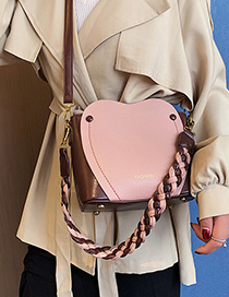 Fashion Pink Contrast Shoulder Hand Crossbody Bag