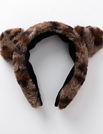 Fashion Brown Leopard Cat Ear Headband