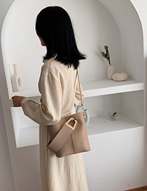 Fashion Khaki Crossbody Shoulder Bag