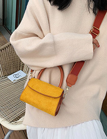 Fashion Yellow Scrub Broadband Shoulder Handbag