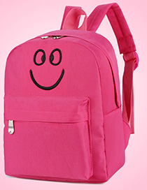Fashion Pink Canvas Smiley Shoulder Bag
