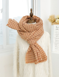 Fashion Yellow Houndstooth Wool Scarf