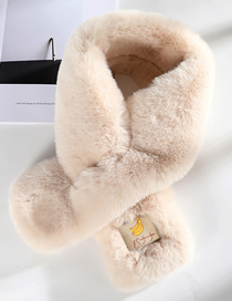 Fashion Beige - Thicker Version Fruit-like Rabbit Fur Collar