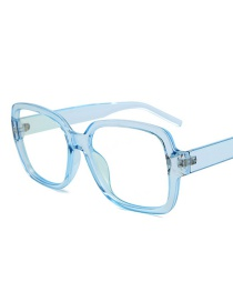 Fashion Blue Frame White Screen Anti-blu-ray White Screen Flat Mirror Glasses
