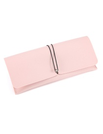 Fashion Pink Leather Glasses Case