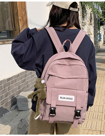 Fashion Pink With Pendant Letter Backpack  Canvas