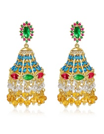 Fashion 18k Micro Inlaid Zirconium Hollow Earrings