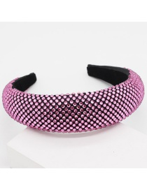 Fashion Purple Full Diamond Sponge Headband