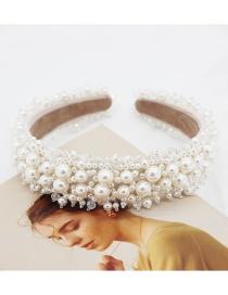 Diadema De Perlas De Costura