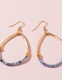 Fashion Gold Beads Natural Stone Drop Earrings