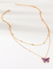 Mariposa Con Collar De Diamantes