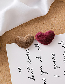 Fashion Brown + Red (love) Plush Love Square Color Earrings