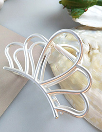 Fashion White Large Alloy Gripper Hair Claw