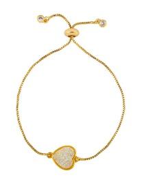 Fashion Heart-shaped Ab Color Diamond Zircon Bracelet