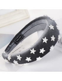 Fashion Gray Sponge Five-pointed Star Wide-brimmed Headband