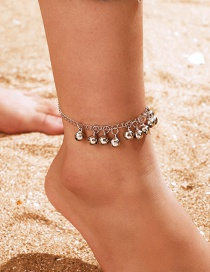 Fashion Silver Bell Alloy Chain Tassel Single Anklet
