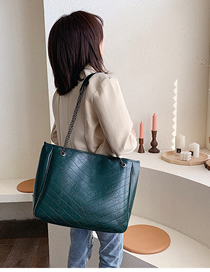 Fashion Green Embroidery Chain Single Shoulder Messenger Bag