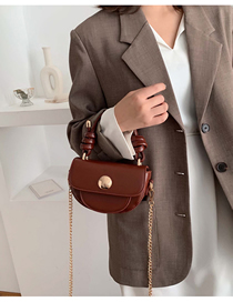 Fashion Brown Chain Shoulder Portable Messenger Bag