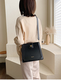 Fashion Black Broadband Single Shoulder Bag