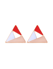Fashion Red Hollow Geometric Earrings