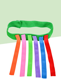 Fashion Green Tie + 6 Tails Tail Tail Straps For Children's Toys