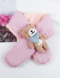 Fashion Pink Plush Children's Scarf