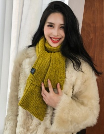 Fashion Yellow Knitted Twist Scarf