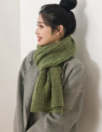 Fashion Fruit Green Knitted Twist Scarf
