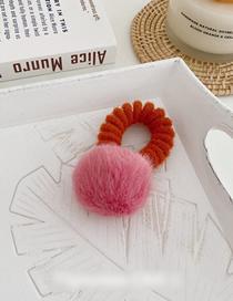Fashion Rose Red Ball Imitation Rabbit Hair Ball