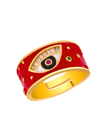 Fashion Red Diamond Eye Drop Ring