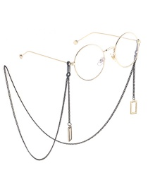 Fashion Black Hanging Neck Moon Chain Glasses Chain