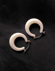 Fashion Oval Pearl Openwork Star Earrings