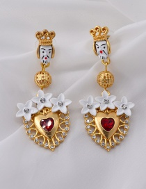 Fashion Gold Doll Earrings